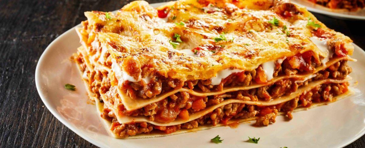 Lasagne aan huis