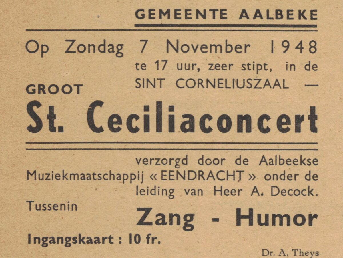 Voor het eerst sinds 1945 geen Ceciliafeest